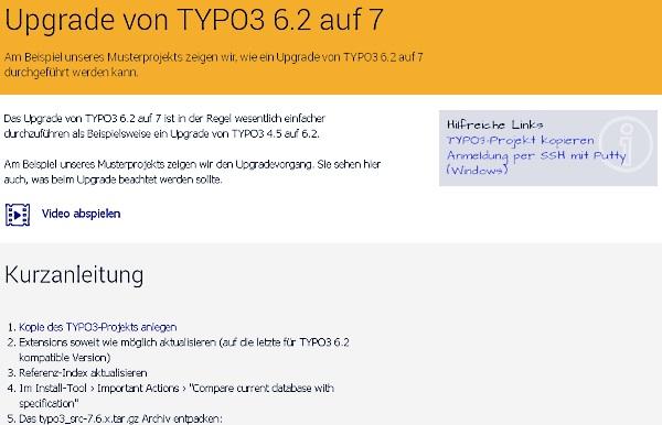jweiland.net-video: Upgrade auf Typo3 7LTS