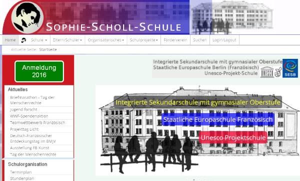 Sophie Scholl Schule ohne Stadt
