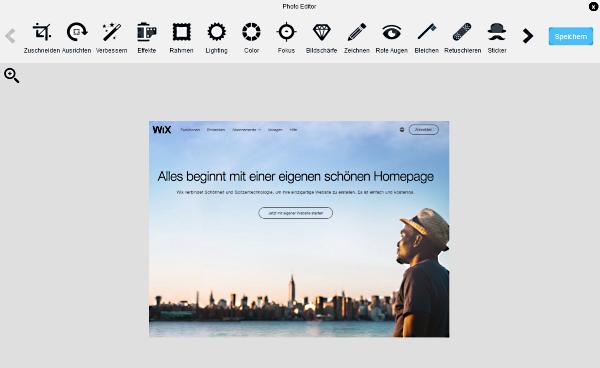 Wix-Bildbearbeitung