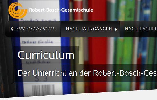 Komplettes Curriculum auf der Homepage