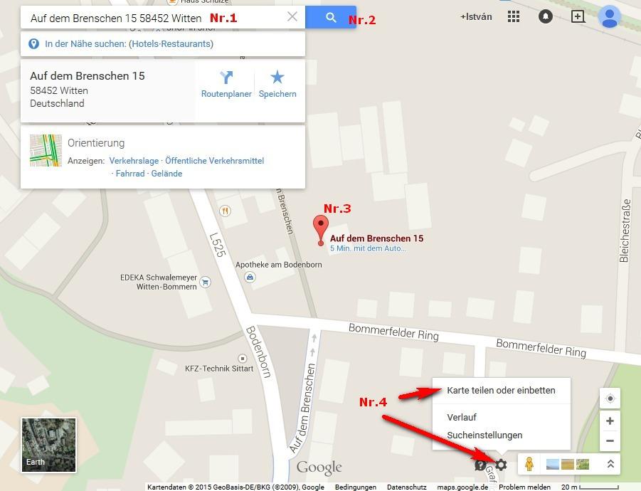 Eine Anfahrtsbeschreibung und einen Routenplaner mit Google Maps erstellen