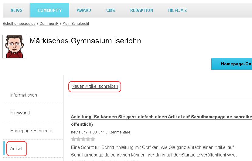 Tutorial: So einfach können Sie einen Artikel auf Schulhomepage.de schreiben