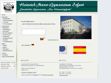 """Heinrich-Mann-Gymnasium Erfurt, Staatliches Gymnasium """"Zur Himmelspforte&"""