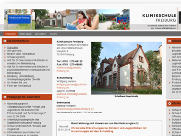 Klinikschule Freiburg Staatliche Schule für Kranke am Universitätsklinikum