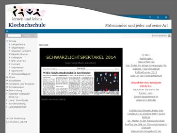 Kleebachschule, städt. Förderschule mit dem Schwerpunkt geistige Entwicklung