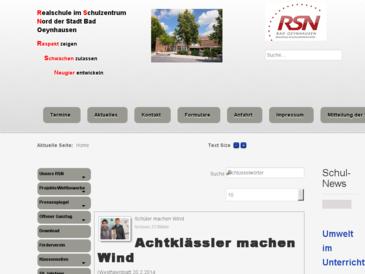 Realschule im Schulzentrum Nord der Stadt Bad Oeynhausen