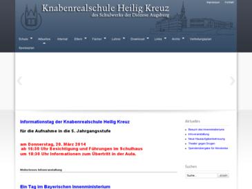 Knabenrealschule Heilig Kreuz des Schulwerks der Diözese Augsburg