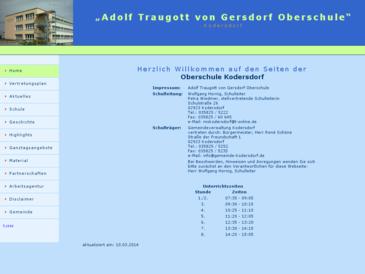Adolf Traugott von Gersdorf Mittelschule Kodersdorf
