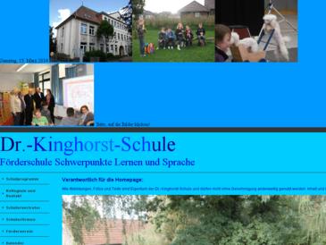 Dr-Kinghorst-Schule Förderschule Schwerpunkte Lernen und Sprache