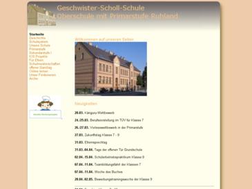 """Oberschule """"Geschwister-Scholl"""" mit Primarstufe Ruhland"""