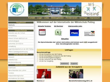 Internetseite der HS Peiting