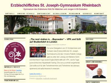 Erzbischöfliches St.-Joseph-Gymnasium Rheinbach - Staatlich genehmigte Ersatzsch