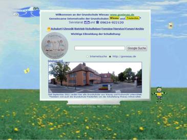 Infoseite der Grundschule Wiesau im Landkreis/ Schulamtsbezirk Tirschenreuth, No