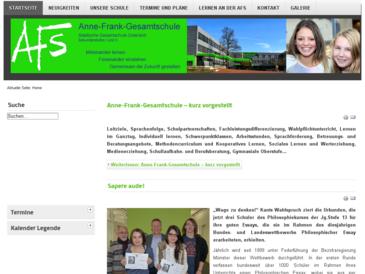 Anne Frank Gesamtschule :: Städtische Gesamtschule in Gütersloh Sekundarstufe I