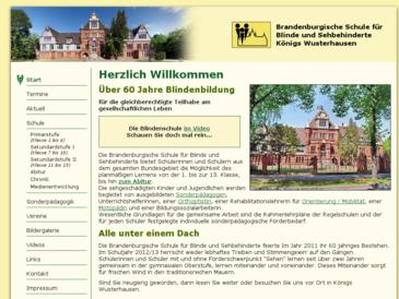 Brandenburgische Schule für Blinde und Sehbehinderte;Schule mit dem sonderpädago