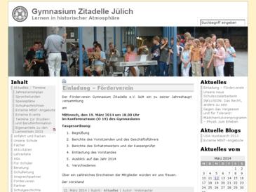 Gymnasium Zitadelle der Stadt Jülich