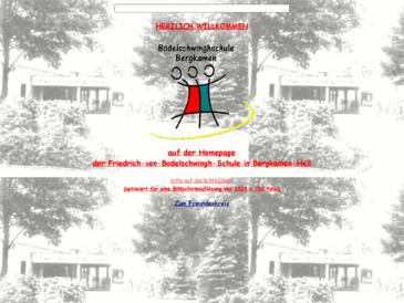 Friedrich-von-Bodelschwingh-Schule, Förderschule mit dem Schwerpunkt geistige En