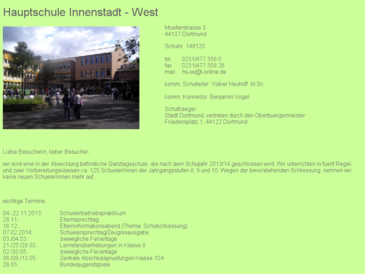 Hauptschule Innenstadt West Dortmund - best of west