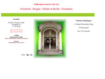 Friedrich-Bergius-Oberschule, die Realschule in Berlin-Schöneberg (Friedenau)