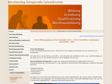 Berufskolleg Königstrasse Gelsenkirchen Sek II