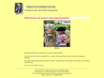 Albert - Schweitzer - Schule  Förderschule der Stdt Ennepetal Förderschwerpunkte
